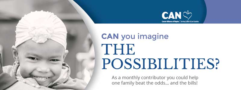 Cancer Alliance of Naples - Can You Imagine the Possibilities Donation Popup
